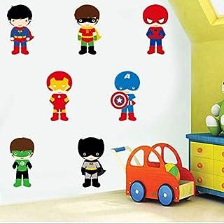 Gadgets wrap Superhero Cartoon Anime Wall Art Decals for Kids Nursery Bedroom Removable Wallpaper Modern Home Decor Vinyl ...