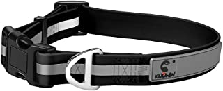 KOOWIN Upgraded Reflective Strip Will Not Disengage, Personalized Waterproof Dog Collar Coated Ultra Soft Rubber, Adjustable Small Medium Large Breed