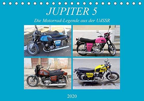 JUPITER 5 - Die Motorrad-Legende aus der UdSSR (Tischkalender 2020 DIN A5 quer): Das sowjetische Motorrad IZH Jupiter 5 in Kuba (Monatskalender, 14 Seiten ) (CALVENDO Technologie)
