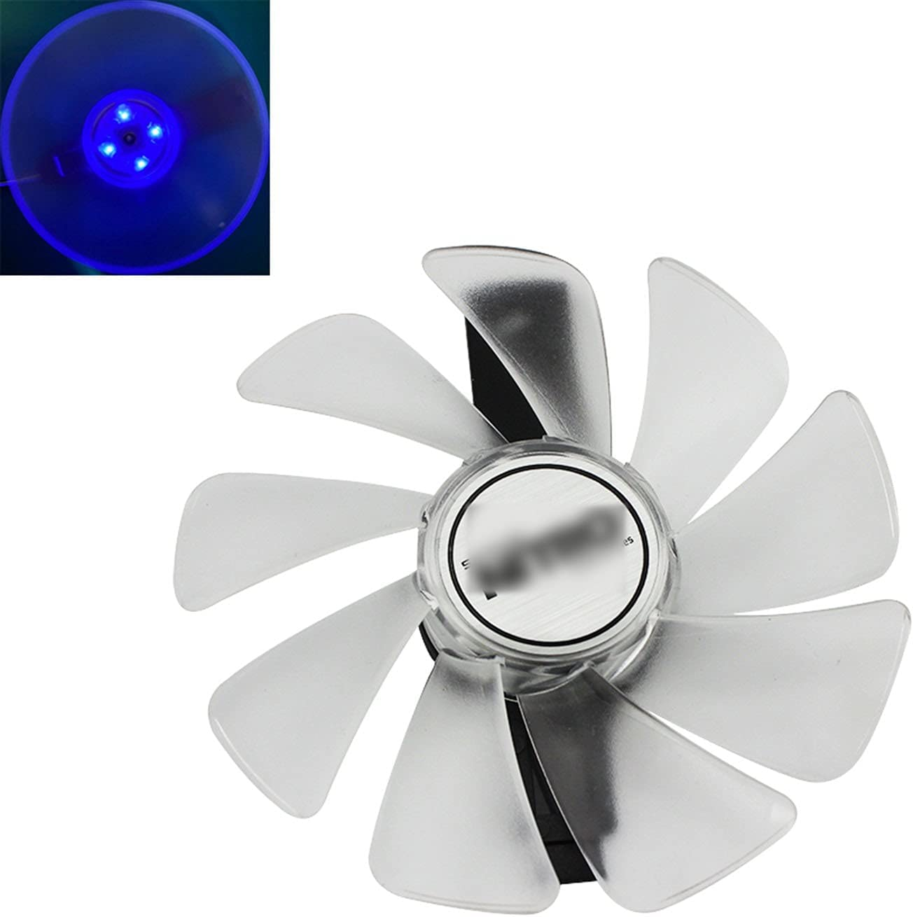 CF1015H12D FD10015M12D RX 590 580 480 470 570 GPU Fan del refrigerador para Sapphire RX470 RX590 RX580 RX480 RX570 Ventilador de especialización de Nitro (Blade Color : Blue LED)
