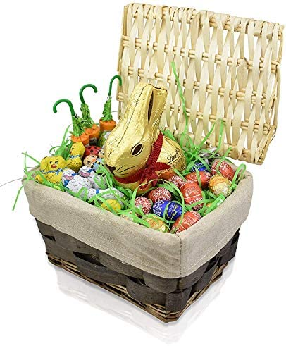 Easter Gift Basket Chocolate Candy Gifts for Him and Her Large Easter Bunny and Eggs Gift Basket product image