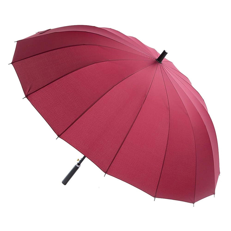 パーソナリティクリエイティブラージ強化風防シェードアンチUVロングハンドル ZHANGAIZHEN (色 : 赤)