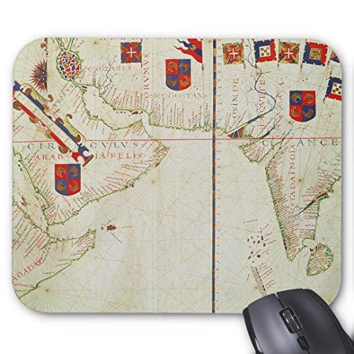 Gaming-Mauspad, rutschfest, wasserabweisend, Gummi-Unterseite, Computer-Mauspad, Karte von Persien, Arabien und Indien