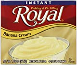 EASY AND DELICIOUS: Royal Instant Pudding is a quick and easy snack or dessert to be enjoyed by everyone – just add, pour, refrigerate and enjoy! ROYAL FLAVORS: Royal Instant Pudding offers 5 delicious flavors: Banana Cream, Butterscotch, Chocolate, ...