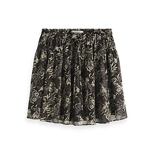 Maison Scotch Damen Rock Printed Flowy Mini Skirt 149937 Combo T XL