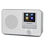 LEMEGA IR1 Portable Internet Radio, DAB/DAB+/FM Digital Radio, WIFI, Bluetooth Speaker, Colour Screen