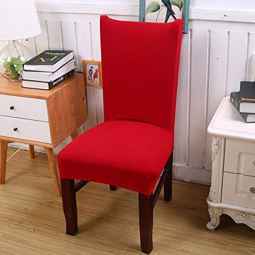 ShiyueNB Afneembare spandex stretch elastische stoelrughoezen eetkamer bruiloftsbanket stoelhoezen wasbaar stoelhoes universal Groot rood