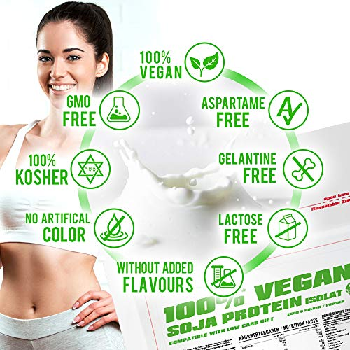 BWG 100% Soja Isolat Protein, Proteinshake, Muscle Line, Vanilla, 1er Pack (1 x 2500g Beutel) - 3