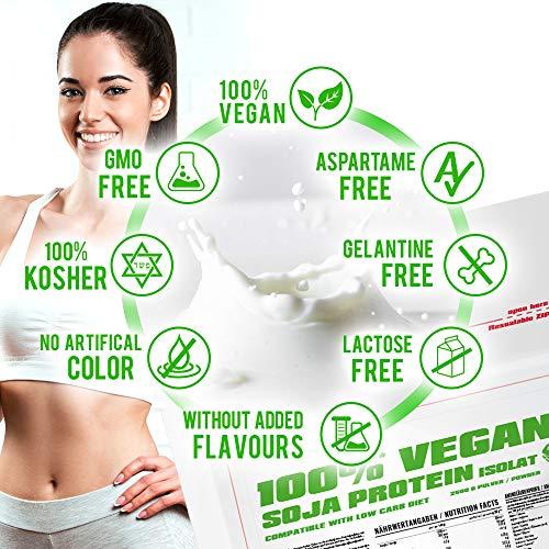 BWG 100% Soja Isolat Protein, Proteinshake, Muscle Line, Vanilla, 1er Pack (1 x 2500g Beutel) - 2