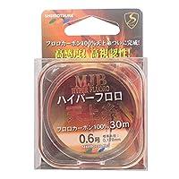 SHIMOTSUKE(シモツケ) フロロカーボンライン MJB ハイパー天上糸 30m 0.6号 1.41kg フラッシュピンク