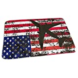 Bikofhd Airplane Silhouette Flag Baby Reusable Changing Pad Portable Changing Mat