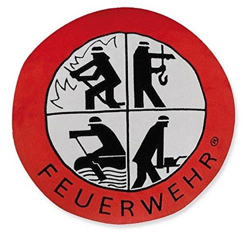 Versandhaus des Deutschen Feuerwehrverbandes GmbH Plüschkissen Feuerwehr mit Signet Retten Löschen Bergen Schützen 30cm Durchmesser Kissen