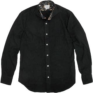 (ジャンネット)GIANNETTO 長袖シャツ メンズ フランネルシャツ ブラック 正規取扱店