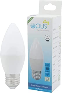 3 x Opus 6W = 40W LED Candle Light Bulbs Warm White ES E27 Screw Cap