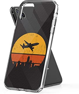 Case Phone Retro Pilot Airplane Jet Flying (5.8-inch Diagonal Compatible with iPhone 11 Pro)