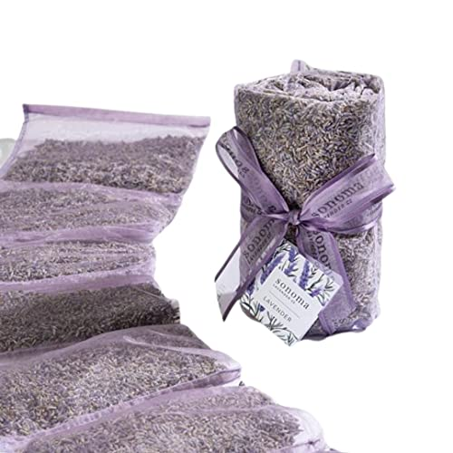 Sonoma Lavender Dried Lavender Sachets by The Yard for Drawers and Closets, Natural Air Freshener and Moth Repellent for Home, Car, Bag, Room, and Closet