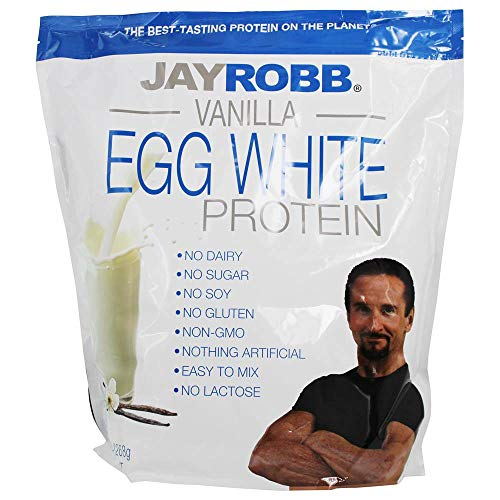 Jay Robb - Vainilla del polvo de la proteína de la clara de huevo - 80 oz.