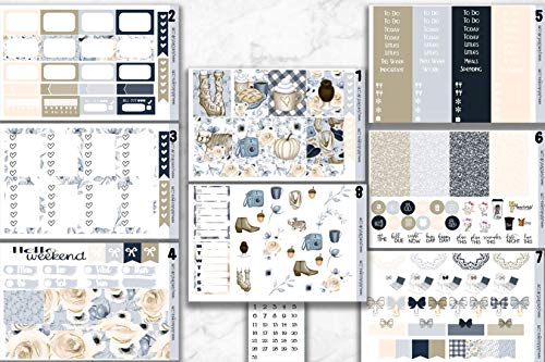 Removable Matte Happy Planner Sticker Sheet Compatible with Erin Condren and Most Planners