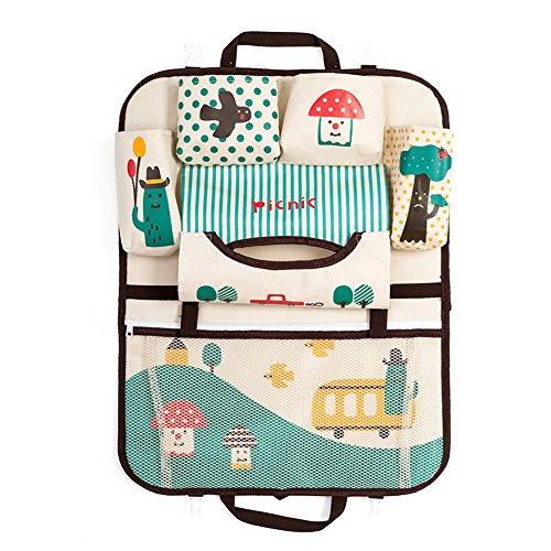 Car Auto Front or Back Seat Organizer Holder Multi-Pocket Travel Storage Bag (Car)