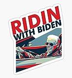 Riden with Biden - Sticker Graphic - Auto, Wall, Laptop, Cell, Truck Sticker for Windows, Cars, Trucks
