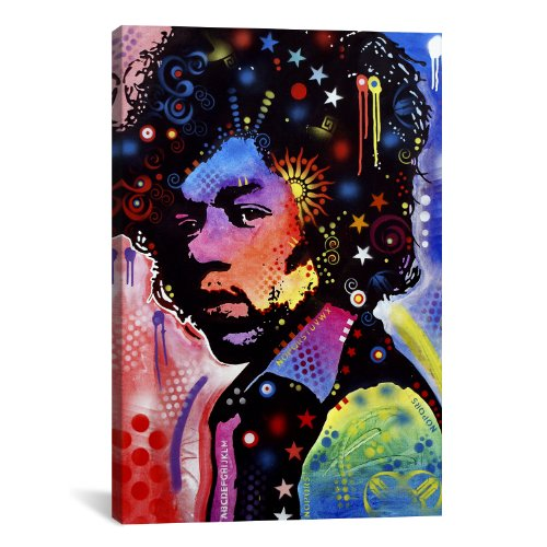 iCanvasART Jimi Hendrix IV by Dean Russo Canvas Print #13535...