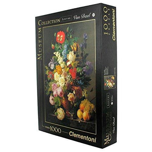 Clementoni- Van Dael-Vaso Di Fiori Louvre Museum Collection Puzzle, 1000 Pezzi, 31415