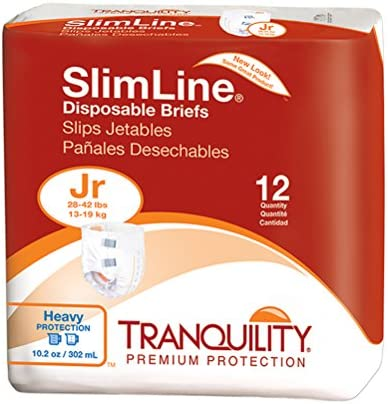 Tranquility Slimline Original Adult Disposable Brief - LG - 12 ct