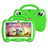 TJD 7 inch Kids Tablet, Android 10.0 OS Tablet for Kids, Parent Control, iWawa Learning Software, 2GB RAM 16GB ROM, Dual Cameras, Bluetooth, WiFi, Frog Style with Stand Boys Girls Gifts MT-761QU