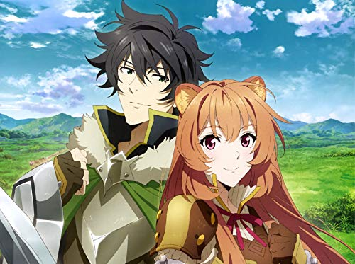 The Rising of The Shield Hero Poster Print,Anime Wall Decoration,Girl and Boy Art Poster,Couple Art Print,Sly Watercolor Print (M - 18'' x 24'')