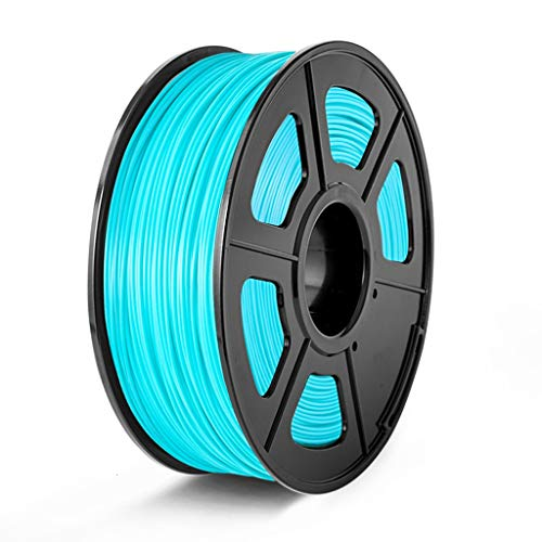 QDTD Impresora 3D PLA Filamento 1.75mm Filamento 3D RepRap Plástico Impresión de Tamaño del Material de +/- 0,05 Mm Cielo Azul 1kg