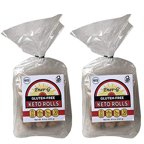 Gluten Free Keto Rolls by Ener-G | Keto-Friendly Dinner Rolls | Non-GMO, Dairy-Free, Soy-Free, Nut-Free, Kosher | 2-Pack of 12 Rolls (17 oz)