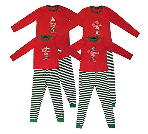Pijamas a Juego con la Familia Pijamas de Duende navideño para niños Niñas Pijamas de Navidad Regalos para niños Ropa de Dormir para Mujer Traje de Hombre