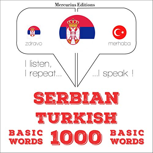 『Serbian - Turkish. 1000 basic words』のカバーアート