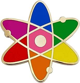 Pinsanity Atomic Symbol Rainbow Enamel Lapel Pin