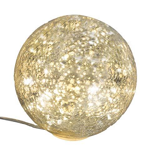 AM-Design Lightball Frostfest Silber Antik Glas Kugel Mosaik Cracle Dekoration Garten 10 oder 20 cm (klein)