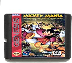 Mickey Mania For 16 Bit Sega Md Game Card For Mega Drive For Genesis Us Pal Version Video Game Console JAP SHELL