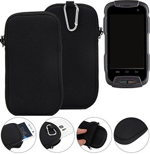 K-S-Trade Neopren Hülle für Cyrus CS 23 Schutzhülle Neoprenhülle Sleeve Handyhülle Schutz Hülle Handy Gürtel Tasche Case Handytasche schwarz