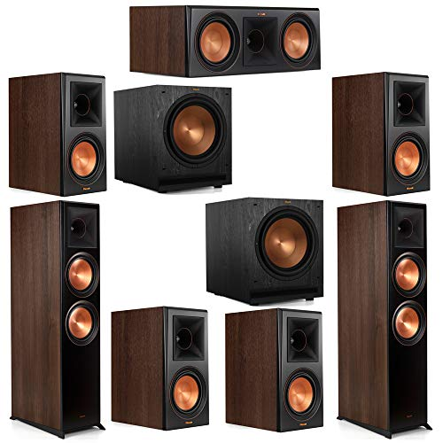 Why Should You Buy Klipsch 7.2 Walnut System 2 RP-8000F Floorstanding Speakers, 1 Klipsch RP-600C Ce...
