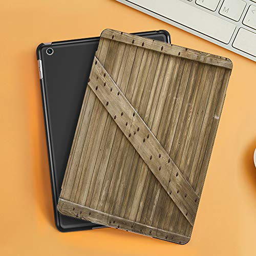 Case for iPad Air 10.2(2019/2018),Wood Barn Door with Iron Nail,Cover with Auto Sleep Wake Feature, Slim Lightweight Stand Protective Case