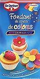 Dr. Oetker - Fondant de azúcar de colores - Rojo, amarillo y azul - 300 g