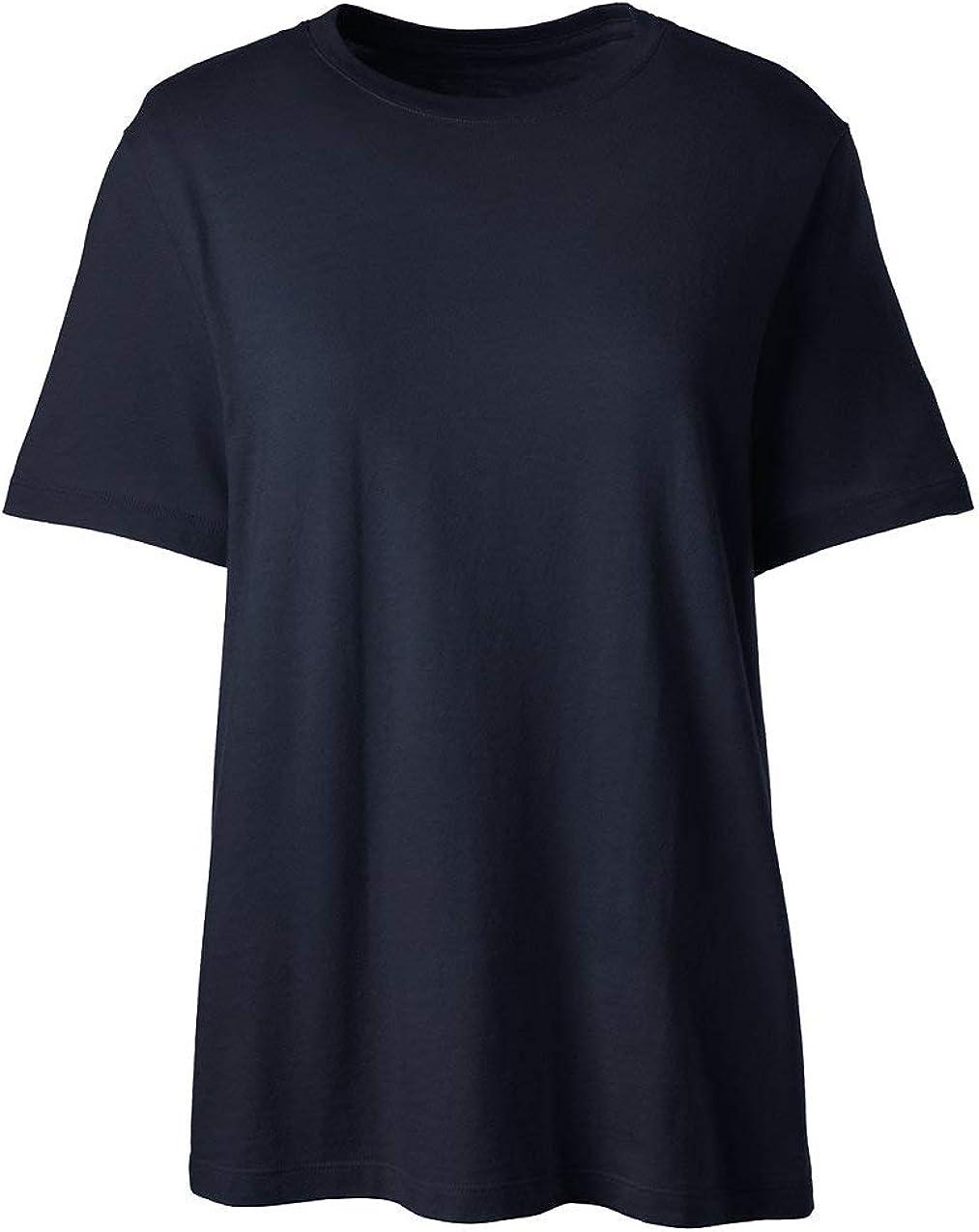 Lands' End School Uniform Women's Short Sleeve Feminine Fit Essential T-Shirt
