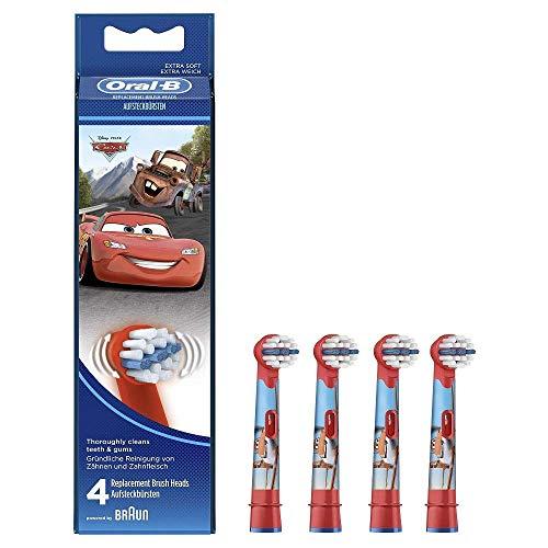 Braun EB10-4K Oral-B Stages Power Kids Lot de 4 têtes de brosse à dents électrique pour enfant Cars