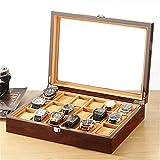 Caja de reloj con 18 ranuras para relojes, caja de almacenamiento de joyas, caja de almacenamiento de relojes, caja de almacenamiento de madera