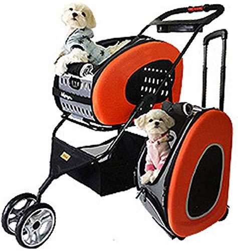 aipipl Cochecito para Mascotas Todo Terreno, Portador de Perros, Carro, Remolque, Buggy.Cochecito para Mascotas Plegable, Silla de Paseo, Cochecito para Perros y Gatos