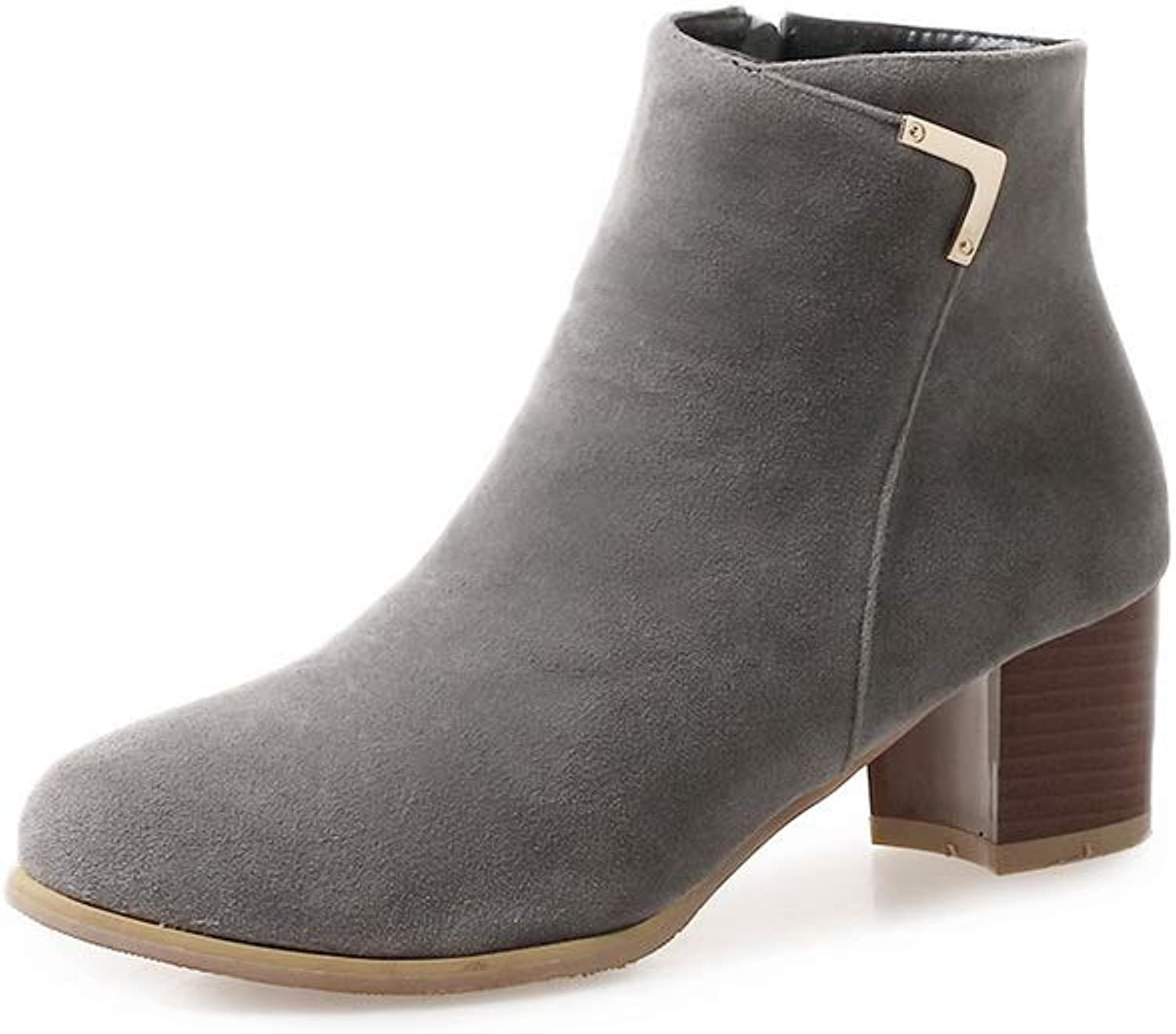 1TO9 Womens Solid Charms Nubuck Leather Boots MNS02753