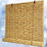 SHXF Persianas enrollables de oscurecedor Estore de bambú Resistente a la Intemperie para Ventanas y Puertas Exterior Patio Balcón Pérgola Trasero Elegance Natural