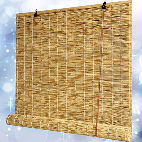 SHXF Persianas enrollables de oscurecedor Estore de bambú R