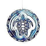 Yokawe Turtle Wind Spinner Glockenspiel 12 Zoll Home Tribal Turtle Wind Spinner Glockenspiel Outdoor Garten Dekor 3D Metall Retro Geschenk Für Mama Geschenk Schildkröte