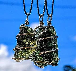MOLDAVITE Necklace in Gold! 12 Kt 19