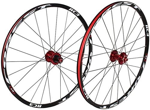 VTDOUQ 26 27.5 inch bicycle wheel Double-walled light alloy rim MTB wheel set front 2 rear 5 Palin quick-change disc brake 7 8 9 10 speed 32H
